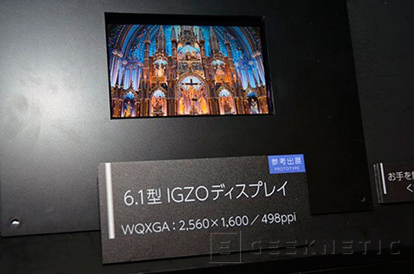Sharp enseña una pantalla de 2560 x 1600 de tan solo 6 pulgadas, Imagen 1