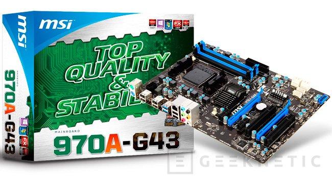 MSI 970A-G43, nueva placa para socket AM3+, Imagen 1