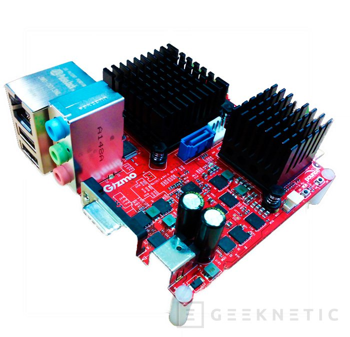 AMD Gizmo, pequeña placa con CPU integrada, Imagen 1