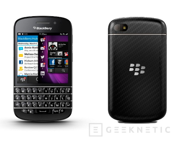 BlackBerry Q10, Imagen 1