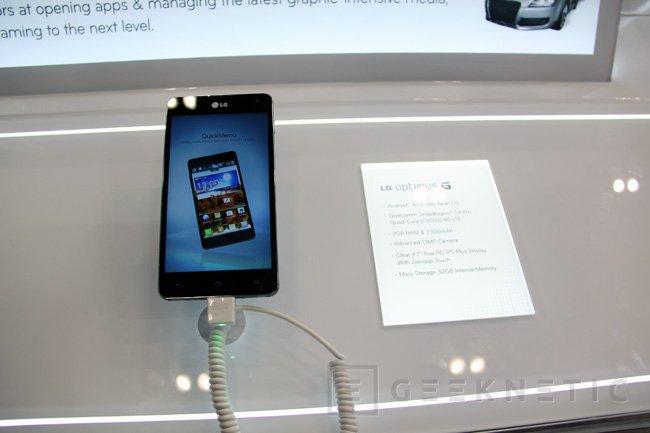 MWC 2013. LG Optimus G y Optimus G Pro, Imagen 1