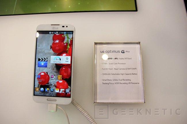 MWC 2013. LG Optimus G y Optimus G Pro, Imagen 3