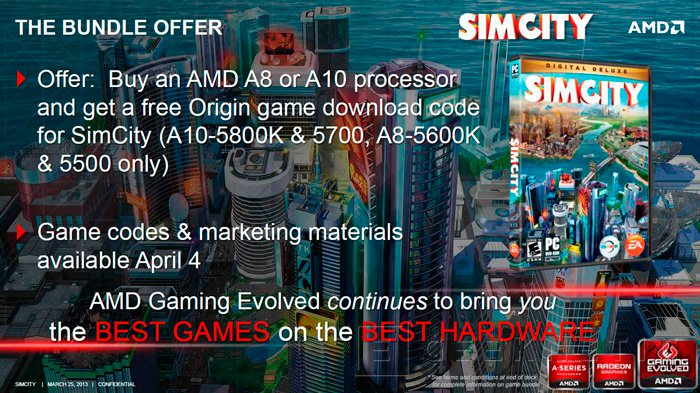 AMD incluye el nuevo SimCity con la compra de sus APU Trinity, Imagen 2