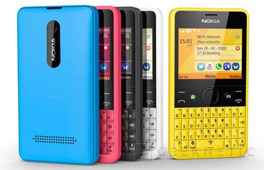Asha 210, Nokia apuesta por el teclado físico en la gama económica, Imagen 1