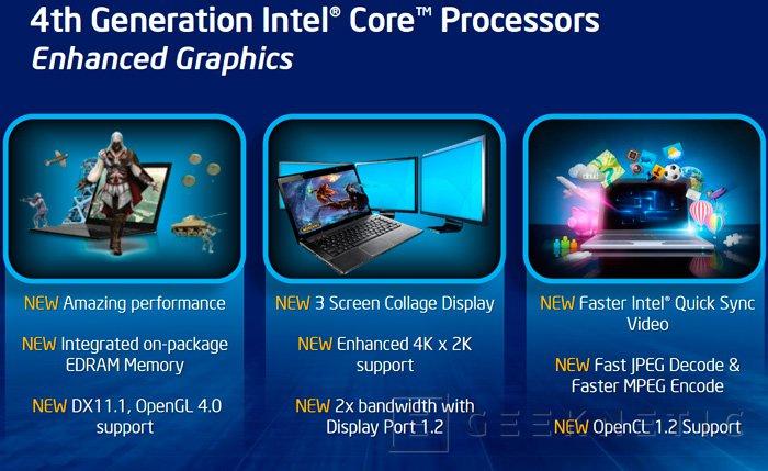 Intel Iris Graphics, así serán las GPU de los nuevos procesadores Intel Core de 4ª Generación, Imagen 1