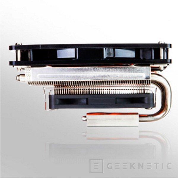 Xigmatek Janus, un disipador para CPU de perfil bajo y doble ventilador, Imagen 2