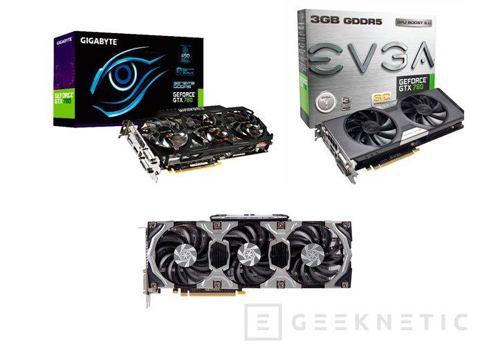 La mayoría de fabricantes ya ofrecen la nueva Nvidia GeForce GTX 780 en su catálogo, Imagen 2