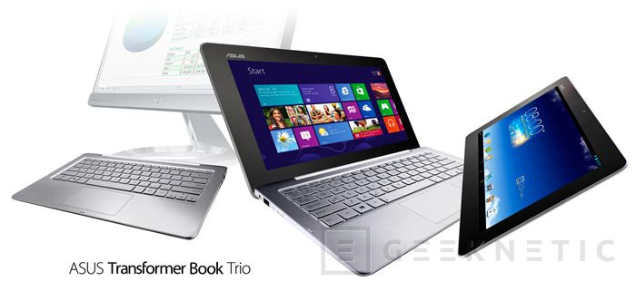 Computex 2013. ASUS. Transformer Book Trio, tablet convertible con Android y Windows 8, Imagen 1