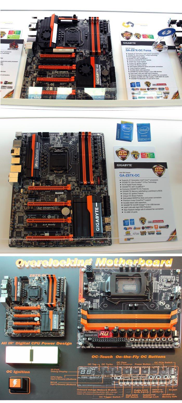 Computex 2013. Gigabyte. Placas base Z87, Imagen 2