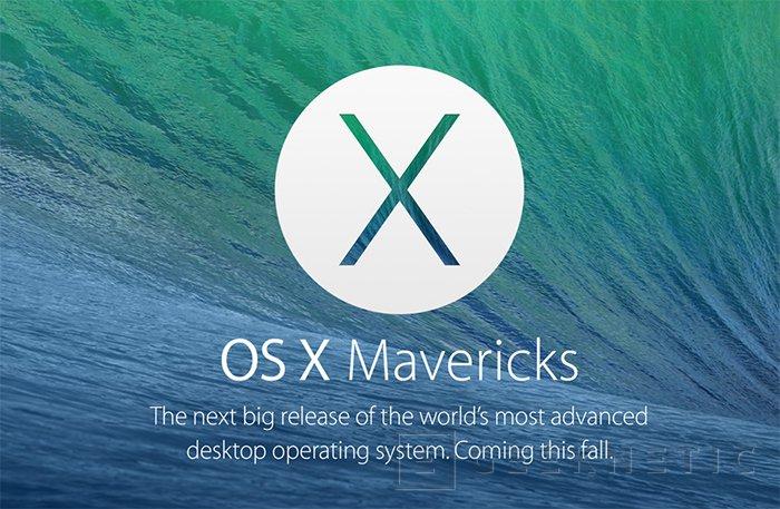 Apple MacOS Mavericks, Imagen 1