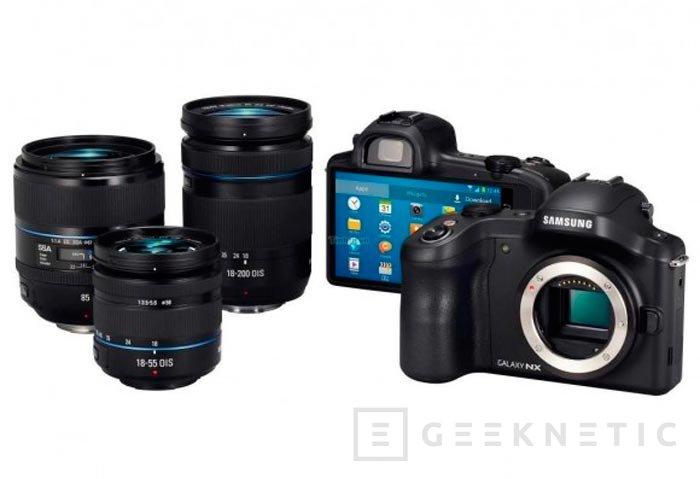 Samsung Galaxy NX, cámara sin espejo y con objetivos intercambiables con Android, Imagen 1