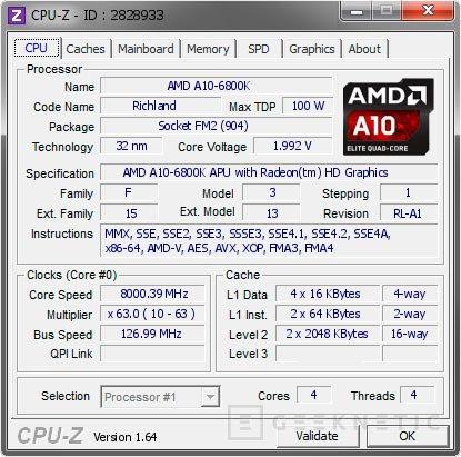 Consiguen alcanzar los 8 GHz en una APU  AMD A10-6800K, Imagen 1