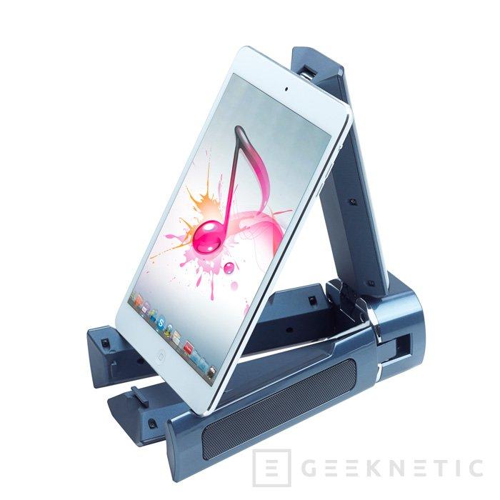 Genius lanza al mercado un curioso sistema de altavoces portátiles 2.1 para dispositivos móviles, Imagen 3