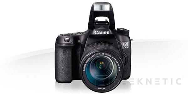 Canon presenta la nueva 70D con mejoras en la captura de vídeo y un sensor de 20,2 MP, Imagen 1