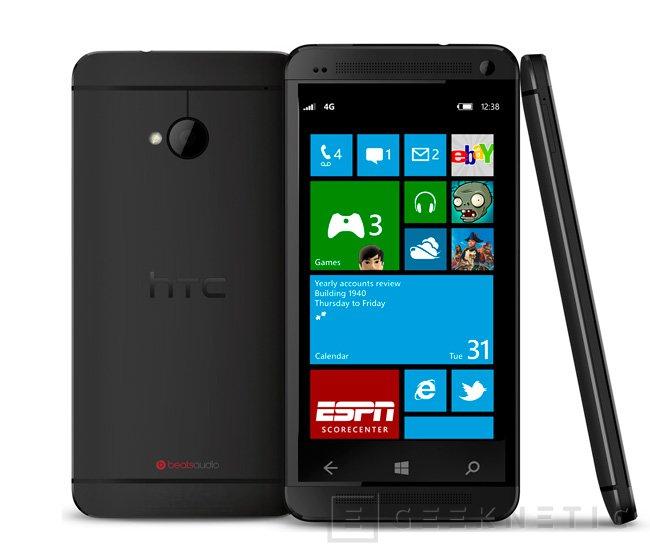 HTC prepara una versión con Windows Phone 8 del HTC One, Imagen 1