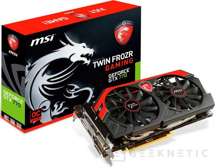 MSI actualiza su GeForce GTX 770 Gaming con 4 GB de memoria, Imagen 1