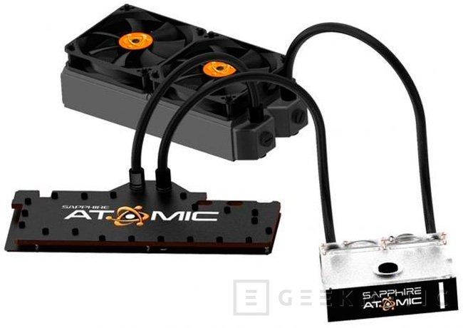 Sapphire muestra su gráfica Radeon HD 7990 ATOMIC con refrigeración líquida incluida, Imagen 1