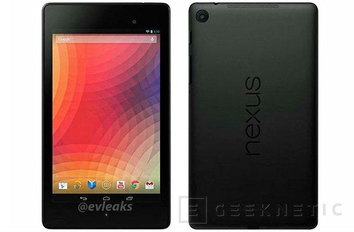 Filtradas fotos y especificaciones de la nueva Nexus 7, Imagen 1