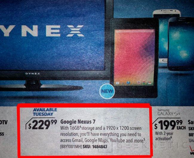 Filtradas fotos y especificaciones de la nueva Nexus 7, Imagen 2