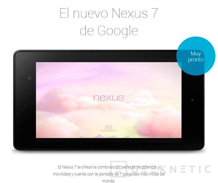 Precios y disponibilidad para la nueva Nexus 7 en España, Imagen 1