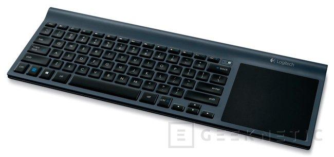 Logitech TK820, un teclado inalámbrico con un touchpad integrado de grandes dimensiones, Imagen 2