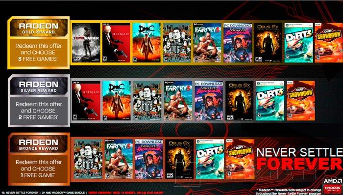 AMD actualiza el catálogo de juegos gratuitos con sus gráficas con Never Settle Forever, Imagen 2