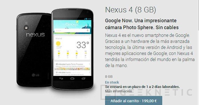 Google rebaja el precio del Nexus 4 hasta los 200 euros, Imagen 2