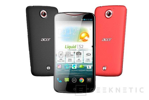 IFA 2013. Acer Liquid S2, smartphone de 6 pulgadas con procesador Snapdragon 800 y grabación de vídeo 4K, Imagen 1