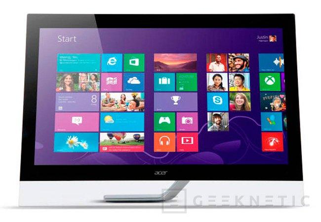IFA 2013. Acer T272HUL, la pantalla multitáctil con resolución WQHD costará 799 Euros, Imagen 1