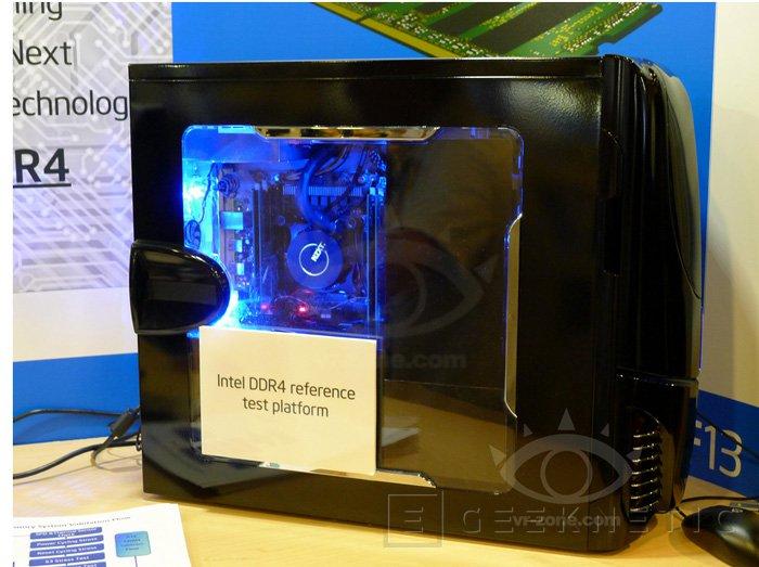 IDF 2013. Intel muestra una placa base X99 con un procesador Haswell-E funcionando con DDR4, Imagen 1