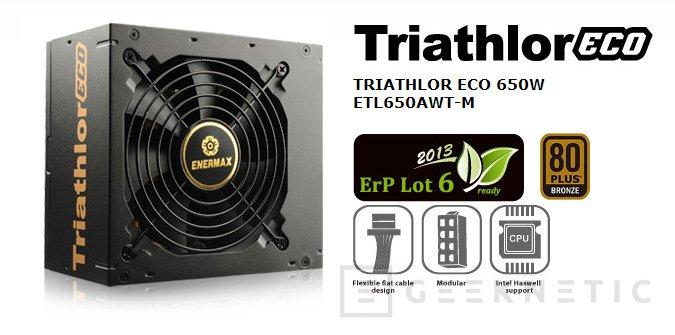 Enermax presenta la gama de fuentes Triathlor ECO , Imagen 2