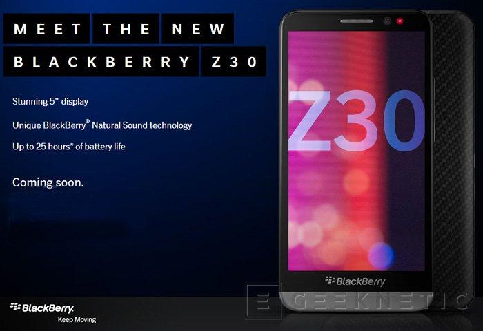 BlackBerry anuncia su nuevo smartphone Z30, Imagen 1