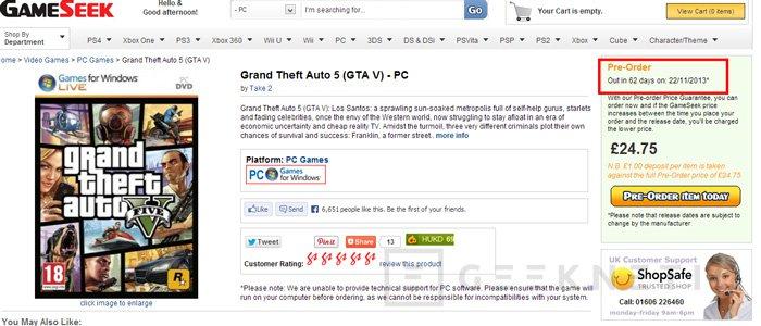 Se filtra la fecha de salida del GTA V para PC, Imagen 2