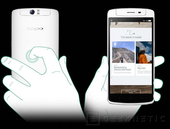 Oppo presenta su smartphone N1 con cámara giratoria y Cyanogen como sistema operativo, Imagen 2