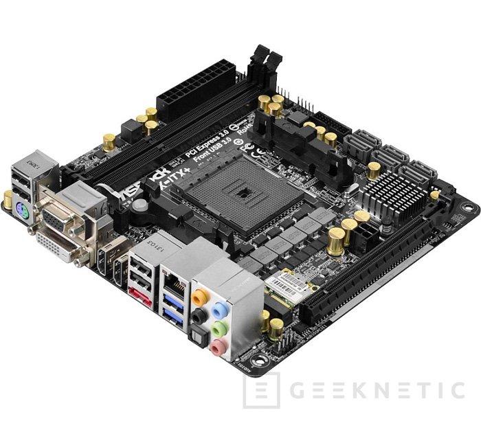 ASRock FM2A88X-ITX+, placa base de pequeño formato para APUs Kaveri de AMD, Imagen 1
