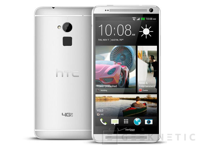 HTC presenta el One Max, un terminal de 5.9 pulgadas con lector de huellas, Imagen 2