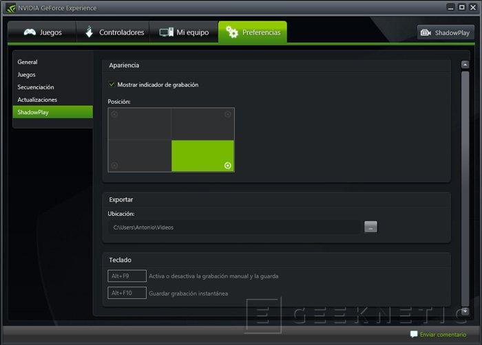 NVIDIA lanza la beta pública de su sistema de grabación de gameplays ShadowPlay, Imagen 3