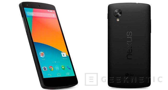 Nexus 5 ya a la venta con la nueva versión de  Android 4.4