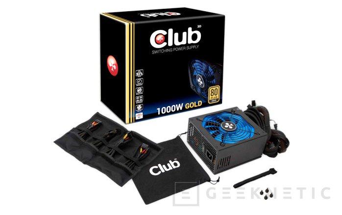 Nuevas fuentes de alimentación 80 PLUS GOLD de Club 3D, Imagen 2