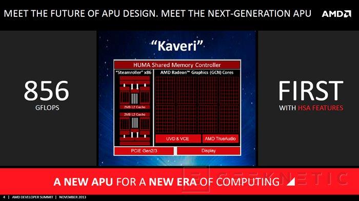 AMD anuncia el lanzamiento de las APU Kaveri para enero del 2014, Imagen 1