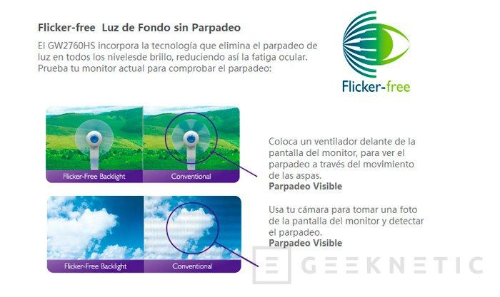 BenQ GW2760HS Eye Care, nuevo monitor con tecnología anti-parpadeo, Imagen 2