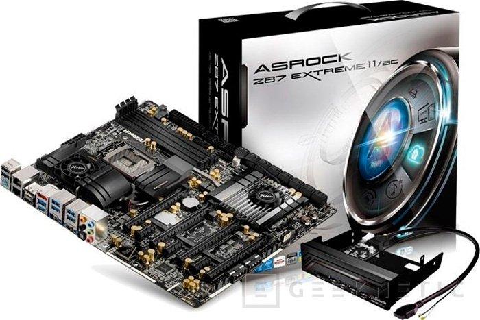 ASRock presenta su placa base Z87 Extreme11/AC con 22 puertos SATA, Imagen 2