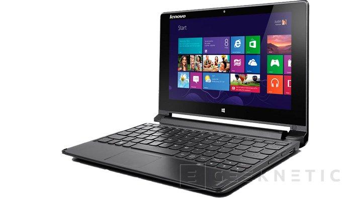 Lenovo Flex 10, un portátil táctil de 10 pulgadas con pantalla giratoria, Imagen 1