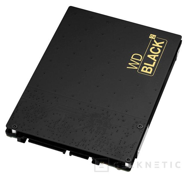WD Black2, disco duro dual con 128 GB de SSD y 1 TB de HDD, Imagen 1
