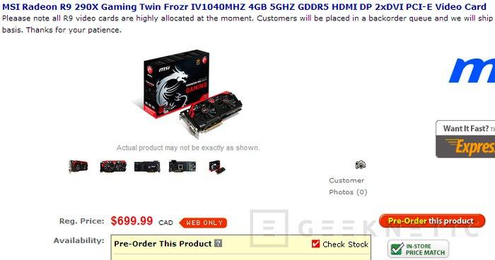 Precios de las nuevas MSI R9 290x y R9 290 GAMING, Imagen 3
