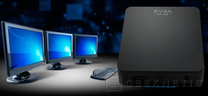 EVGA DisplayPort Hub,conecta varias pantallas a un único conector DisplayPort, Imagen 2