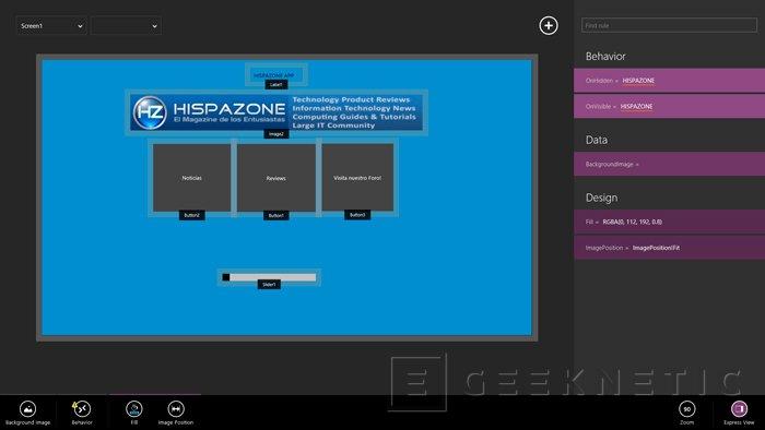 Microsoft Siena, crea aplicaciones para Windows 8 de manera sencilla, Imagen 2