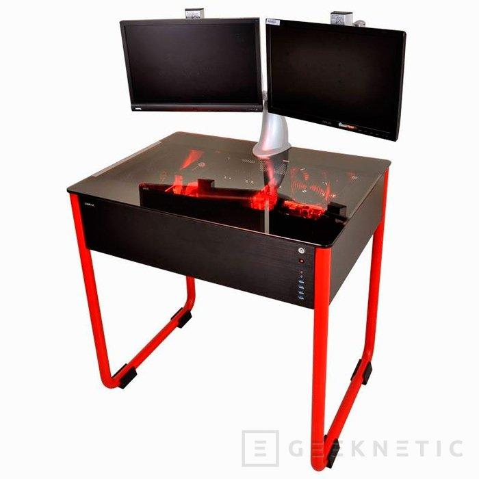 Lian Li DK01, curiosa torre de PC integrada en una mesa, Imagen 1