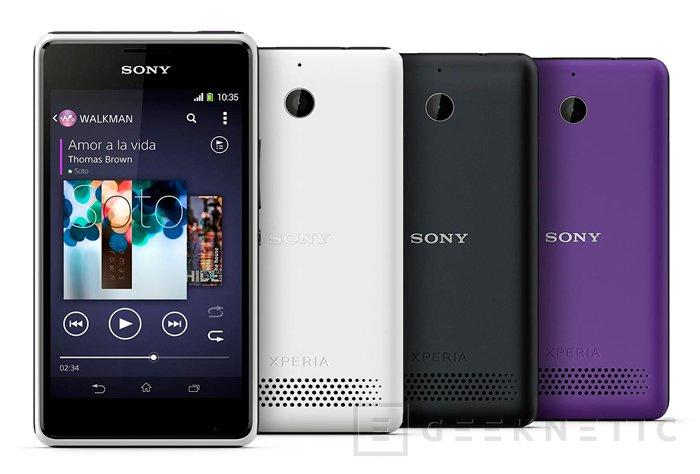 Sony renueva su gama de entrada con el nuevo Xperia E1, Imagen 2