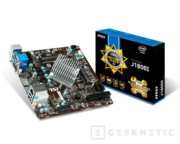 MSI J1800I, placa base con procesador integrado, Imagen 1